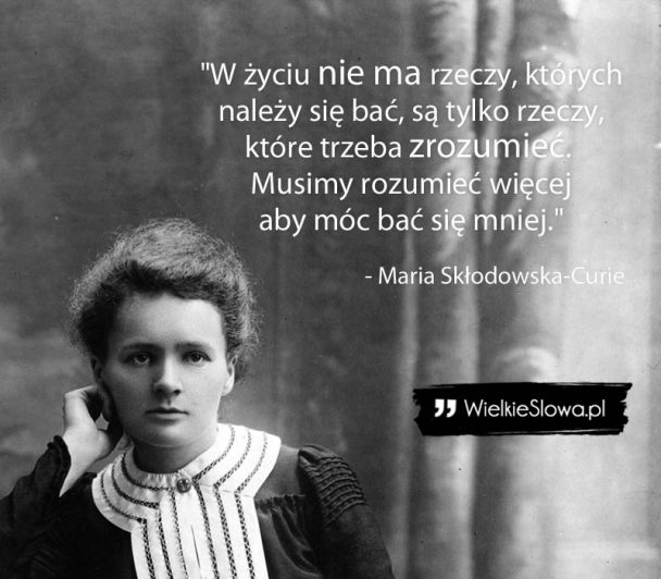 Marie Curie Quote Polish